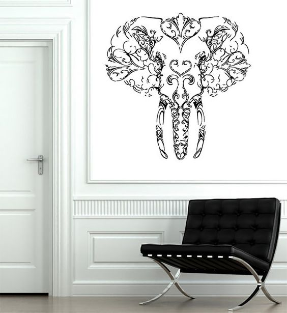 Wall Decals India Elephant Decal Vinyl Sticker Home Art Bedroom Home Decor Interior Design Art Mural Ms221