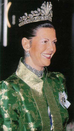Reina Silvia con la Tiara Napoleonica
