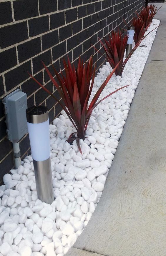 Landscaping With River Rock Best 130 Ideas And Designs White Pebble Garden Pebble Garden Pebble Landscaping