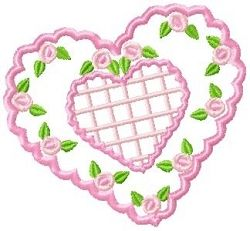 Scallop Heart Sachet - 2 Sizes! | Valentine's Day | Machine Embroidery Designs | SWAKembroidery.com SewAZ Embroidery Designs