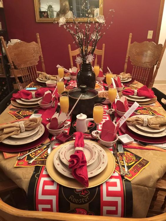 Liz' friends 2015 Chinese New Year tablelscape
