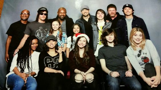 Current Cast of TWD, Ash, Hope & Ethan 2015 Walker Stalker Con N.Y/N.J. Dreams do come true,  this was one of Hopes dreams since 2010. As a child actress she admires the cast & as a TWD fan she loves the show!