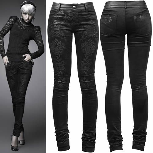 Original  Gothic Gt Punk Rave Black Gothic Punk Military Uniform Pants For Women