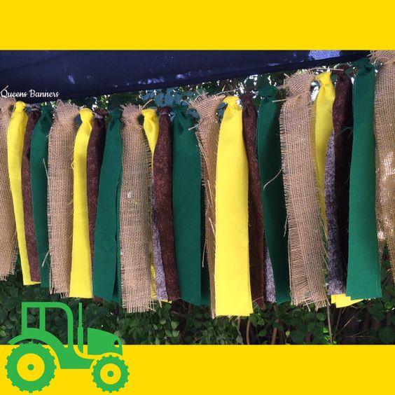 Tractor cumpleaños país Garland decoración fiesta por QueensBanners