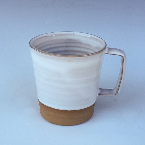 4 Contemporary stoneware mugs 10oz save on by RhynoClayworks
