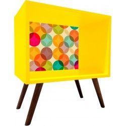 Criado Mudo Amarelo com Fundo A45cmXL45cmXP30cm