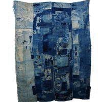 Spectacular Boro Patchwork Indigo Futon Cover Textile