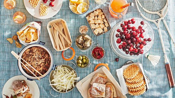 3 NEXT-LEVEL WAYS TO DO A PICNIC | Take a seat and a bite out of summer with these three spreads that you'll be excited to assemble—and delighted to share. #food #recipes #marthastewart #picnicbaskets
