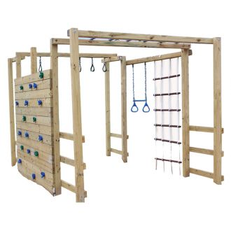 Jungle gym kit (just add lumber). Would love to build this for the kiddos!