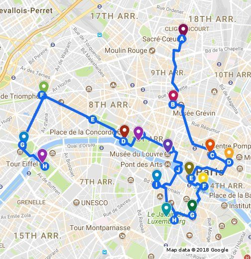 A Walking Guide Of Things To Do In Paris Paris France Travel