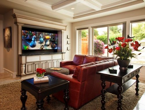 5 Tricks You Have To Do To Give Your Living Room A Gorgeous Rustic Look Red Couch Living Room Red Sofa Living Room Leather Couches Living Room