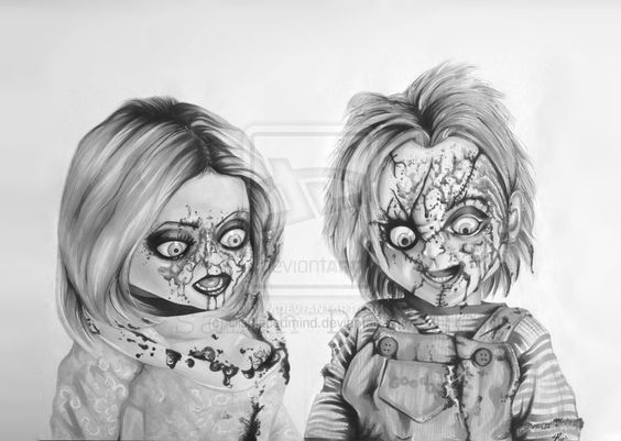 chucky and tiffany drawings - Google Search | drawings ...