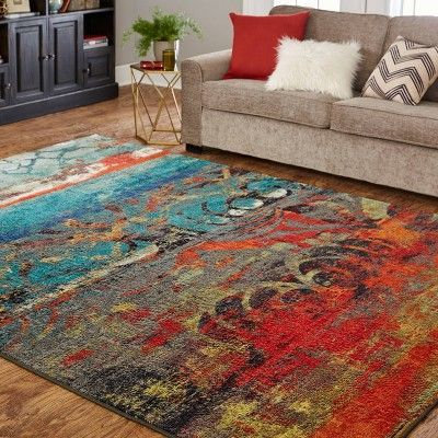 Benefits Of Mohawk Carpeting In Home Decoration In 2020 Vibrant Rugs Orange Area Rug Rugs On Carpet