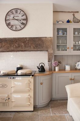 Love the colour of this kitchen