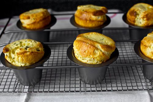Corn, Chives, and Buttermilk popovers by Smitten Kitchen