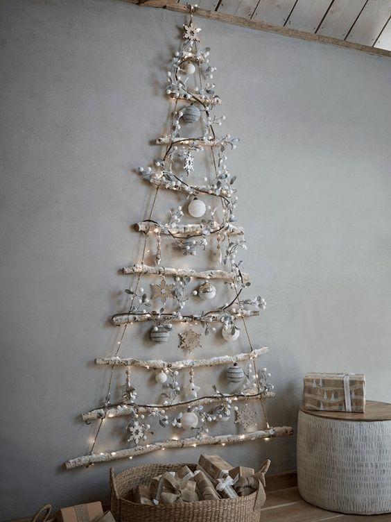 100 Diy Christmas Decorating Ideas Which Are Elegant Effortless Economical Ethini Easy Christmas Diy Wall Christmas Tree Affordable Christmas Decorations
