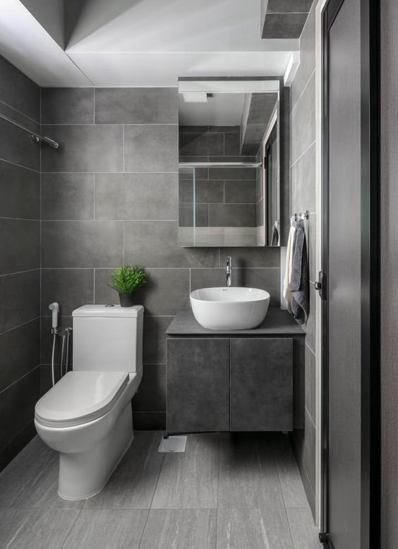 55 Awesome Gray Decorating Ideas For Your Small Bathroom On Budget Bathroom Styling Contemporary Bathroom Designs Bathroom Design Small