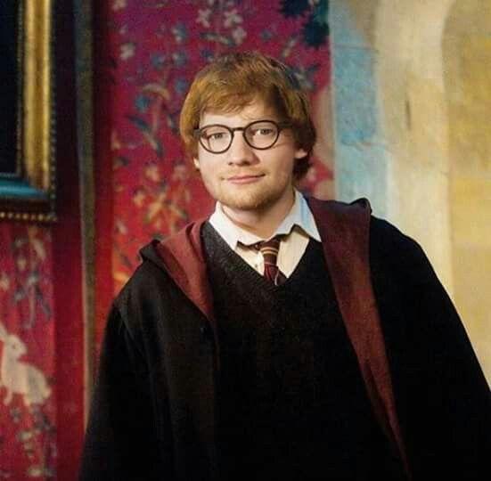 Ed Sheeran Preparing For Hogwarts Gryffindor This One Is We All Know Draco Malfoy Already Gave Him The News He Ed Sheeran Love Ed Sheeran Lyrics Ed Sheeran