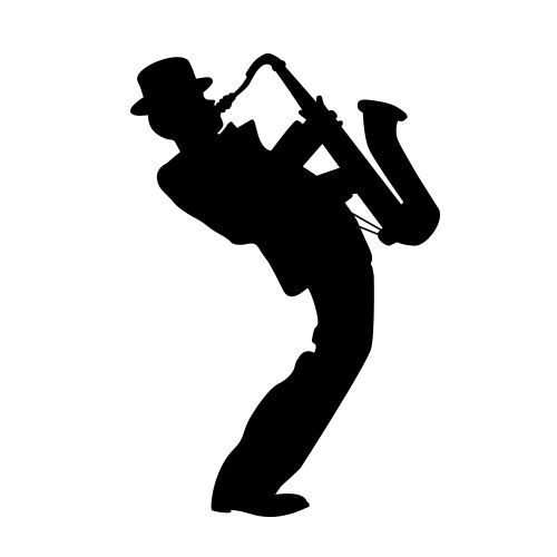 Silhouette Of Saxophone Player Google Search Diy