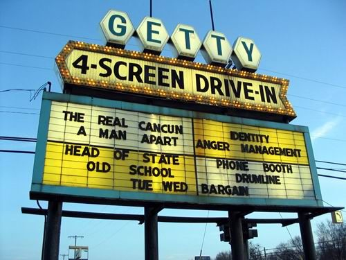 i love to go to the getty 4 screen drivein theater in