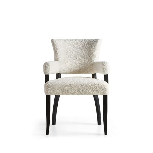 Fallyn 21 Dining Arm Chair In Faux Shearling Dining Room