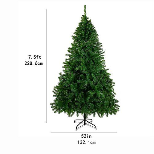 Cheerson 7 5 Ft Premium Christmas Tree Easy Assembly Artificial Evergreen Christmas Tre Simple Christmas Tree Christmas Decorations Living Room Christmas Tree