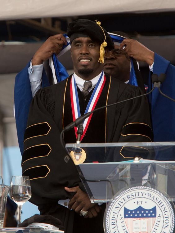 "Pin for Later: A-List Doctorates: Stars With Honorary Degrees Sean ""Diddy"" Combs In May 2014, Sean ""Diddy"" Combs received an honorary Doctorate of Humanities from Howard University in Washington DC."