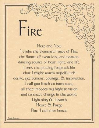 Prayer to Invoke the Element of Fire – Witches Of The Craft®