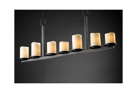 Chandelier lights that look like candles : Chandeliers bar and candles on