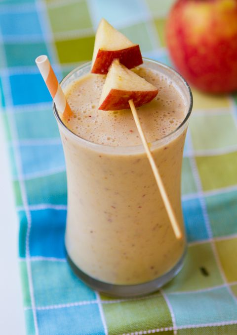 Apple Peanut Butter Banana Shake. #vegan