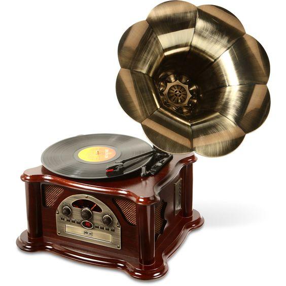 Gramophone Texas com 5W, USB, MP3, CD, Rádio e Vinil Ribeiro e Pavani - SouBarato