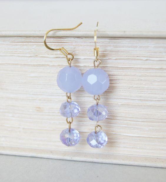 Lavender Gold Earrings