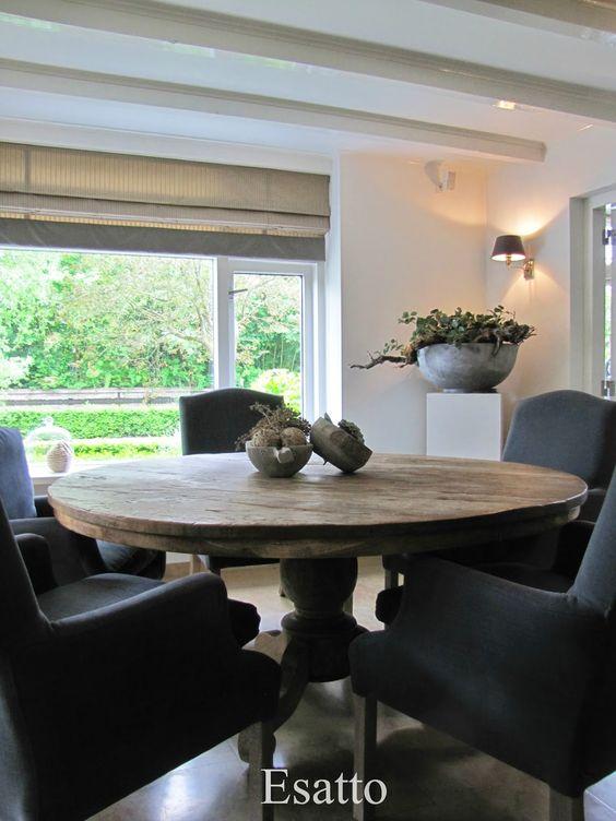 Betonlook schaal op een witte zuil aankleding van een hoek in de kamer living pinterest - Een hoek thuis ...