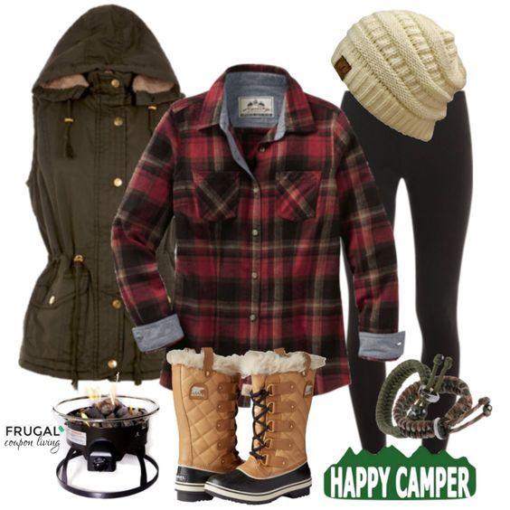 Frugal Fashion Friday Happy Camper Camping Outfit of the Day on Frugal Fashion Friday. Polyvore Outfit.