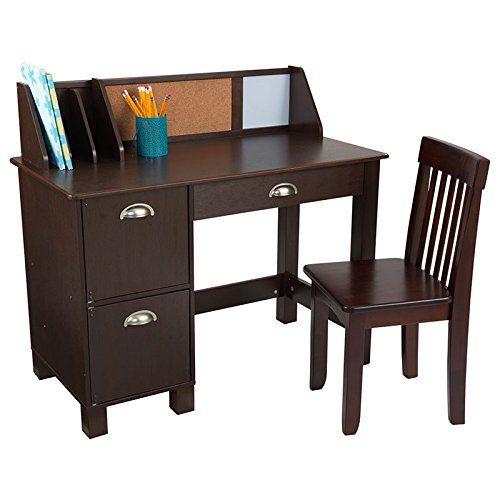 Kidkraft Study Desk With Chair Espresso Kids Study Desk Kid Desk Desk And Chair Set