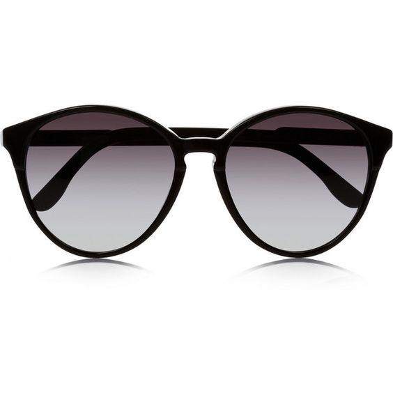 Stella McCartney Cat eye acetate sunglasses ($220) ❤ liked on Polyvore