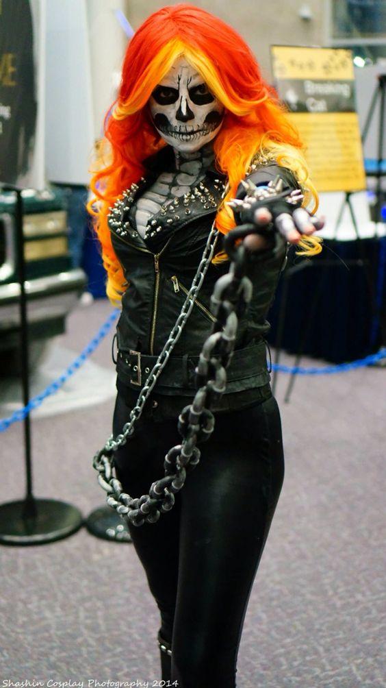 Female Ghost Rider Cosplay by Lisa Phalstaf