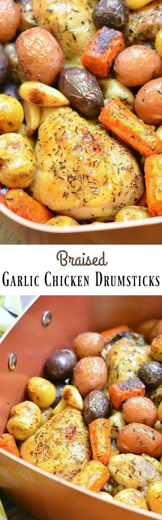 Braised Garlic Chicken Drumsticks Recipe Chicken Drumsticks