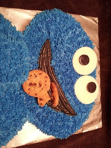 Cookie Monster Cake!!!