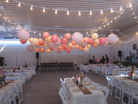 wedding ideas with paper lanterns table 4 decor rental amp design paper paper 28361