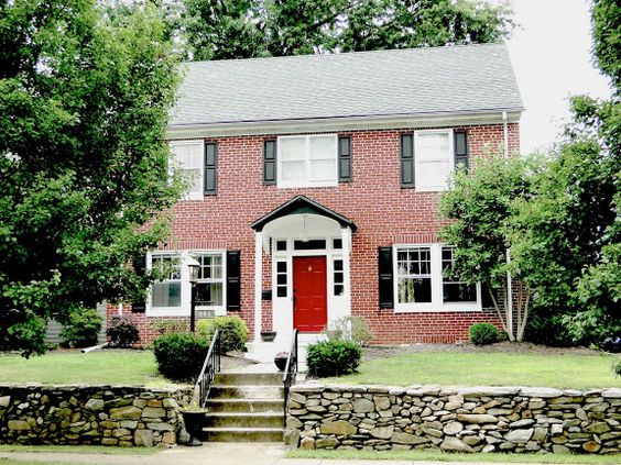 Red Doors Brick Colonial House Google Search Exterior
