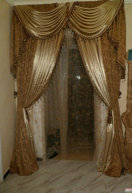 Curtains Ideas brown valance curtains : Two Curtain window door panel valances Grommet OR Scarfe egypt ...