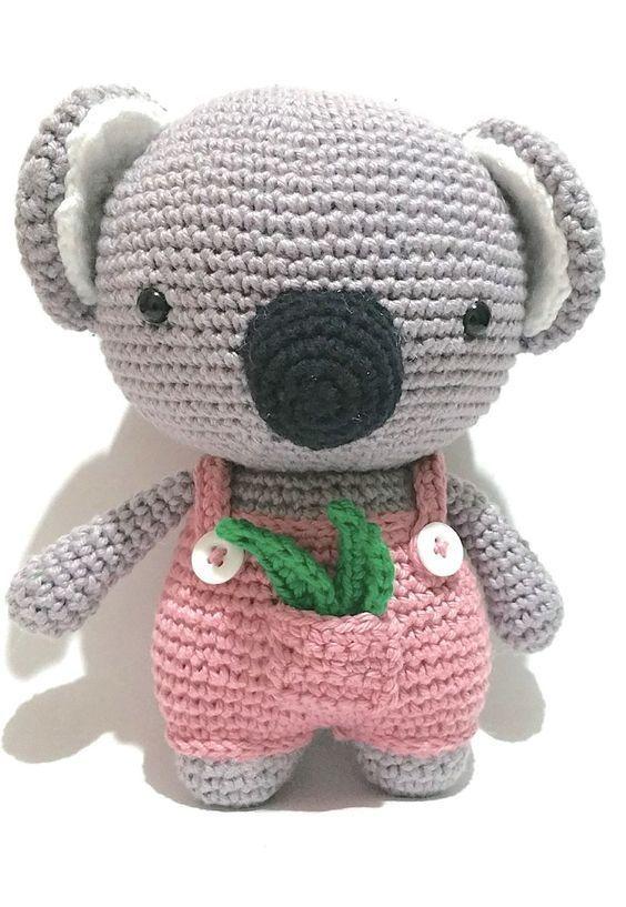 Free Crochet Koala Pattern - Coco the Koala! - The Clumsy Unicorn | 817x564