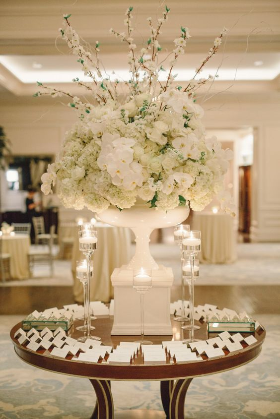 Winter wedding at St. Regis Atlanta Planning by TOAST events Photos by Jeremy Harwell Decor by Edge Design Group