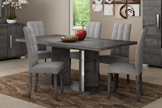 birch leather dining room chairs grey dining rooms table in table and
