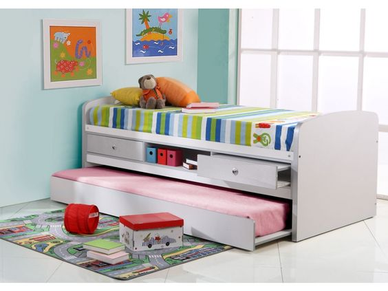 soldes lit enfant vente unique promo lit pas cher achat lit gigogne kindness 90x190 cm prix. Black Bedroom Furniture Sets. Home Design Ideas