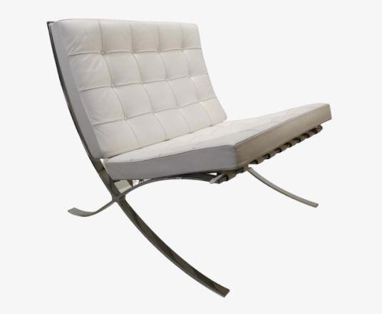 Special Limited Barcelona Chair Design Mies Van De Rohe 1886 1969 Als Onderdeel Van Een Uitgave Van 100 Stoelen Lounge Ideeen Wit Leder