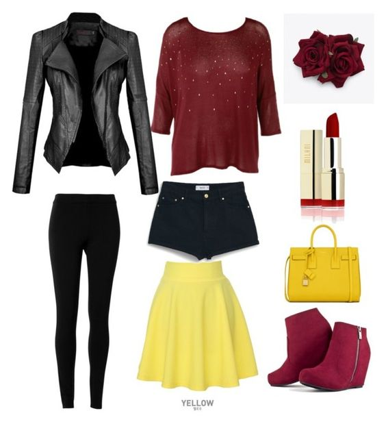 """Soul Evans"" by animequeen58 on Polyvore featuring Max Studio, QNIGIRLS, MANGO and Yves Saint Laurent"