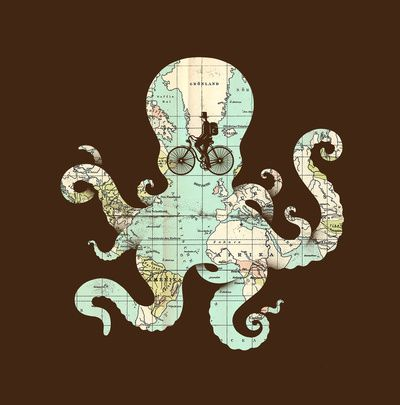 Silhouette on an old map