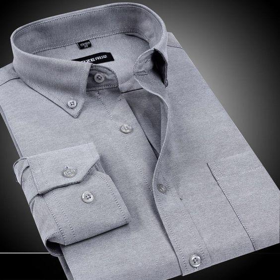 Wrinkle Resistant Slim Fit Dress Button-Down Long Sleeve Oxford Dress Shirt